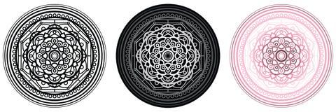 Geometrimandala för färgläggningbok och din design Prick högtalare, industriell bakgrund Royaltyfria Bilder