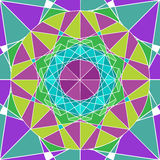 GeometriMandalabakgrund Royaltyfria Bilder