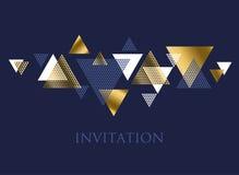 Geometrimotiv i lyxig vektorillustration för art déco Abstrakt begrepp Royaltyfria Bilder