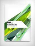 Geometrisch abstract bedrijfsmalplaatje Stock Afbeelding