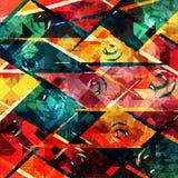 Geometrisch abstract kleurenpatroon in graffitistijl kwaliteits vectorillustratie voor uw ontwerp Stock Fotografie