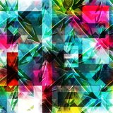 Geometrisch abstract kleurenpatroon in graffitistijl kwaliteits vectorillustratie voor uw ontwerp Royalty-vrije Stock Afbeeldingen