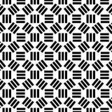 Geometrisch abstract naadloos patroon Lineaire motiefachtergrond Stock Foto's