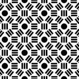 Geometrisch abstract naadloos patroon Lineaire motiefachtergrond Stock Foto