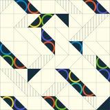 Geometrisch abstract naadloos patroon Lineaire motiefachtergrond stock illustratie