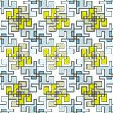 Geometrisch abstract naadloos patroon Lineaire motiefachtergrond Royalty-vrije Stock Foto
