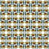 Geometrisch abstract naadloos patroon Lineaire motiefachtergrond Royalty-vrije Stock Afbeelding
