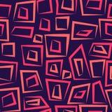 Geometrisch abstract naadloos patroon op donkere purple Stock Afbeelding