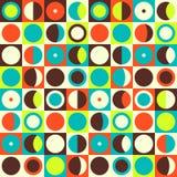 Geometrisch abstract naadloos patroon Retro jaren '60stijl en kleuren Royalty-vrije Stock Foto