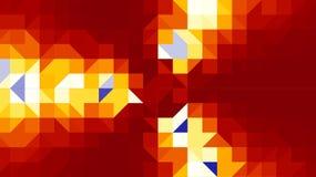 Geometrisch abstract patroon van driehoeken op een rode achtergrond Stock Afbeelding