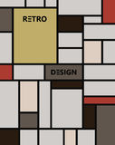 Geometrisch abstract pattern DE stijl art. royalty-vrije illustratie