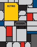 Geometrisch abstract pattern DE stijl art. stock illustratie