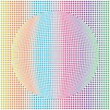 Geometrisch Abstract Rond Dots Colorful Sphere Patten Background royalty-vrije illustratie