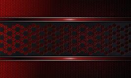 Geometrisch als traliewerk donkerrode achtergrond, met een gevormd kader en met het rode scherpen Royalty-vrije Stock Foto