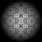 Geometrisch artistiek gesmeed traliewerk Stock Afbeeldingen