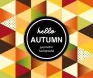 Geometrisch Autumn Banner met driehoeken stock illustratie
