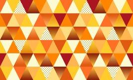 Geometrisch Autumn Seamless Pattern met driehoeken royalty-vrije illustratie
