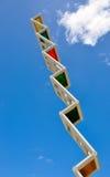 Geometrisch Beeldhouwwerk in de hemel: Fremantle, Westelijk Australië Stock Afbeelding