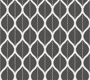 Geometrisch in bladeren vector naadloos patroon Abstracte symmetrie vectortextuur De herfst naadloos patroon vector illustratie