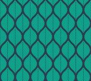 Geometrisch in bladeren vector naadloos patroon Abstracte symmetrie vectortextuur De herfst naadloos patroon stock illustratie