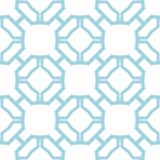 Geometrisch blauw abstract naadloos patroon voor stoffen Royalty-vrije Stock Foto's