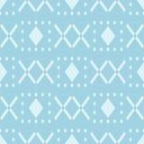 Geometrisch blauw abstract naadloos patroon voor stoffen Royalty-vrije Stock Foto