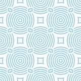 Geometrisch blauw abstract naadloos patroon voor stoffen Royalty-vrije Stock Afbeelding