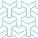 Geometrisch blauw abstract naadloos patroon voor stoffen Royalty-vrije Stock Afbeeldingen
