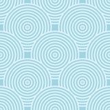 Geometrisch blauw abstract naadloos patroon voor stoffen Stock Afbeelding