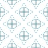 Geometrisch blauw abstract naadloos patroon voor stoffen Stock Foto