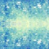 Geometrisch blauw patroon. Vectorillustratie. EPS 10 Stock Foto