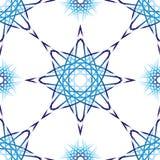 Geometrisch blauw vectormandala naadloos patroon op witte achtergrond vector illustratie