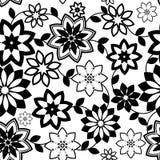 Geometrisch bloemen naadloos patroon Royalty-vrije Stock Fotografie