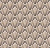 Geometrisch Bloemen Vector Naadloos Patroon Abstracte vectortextuur Art Deco Leaves-achtergrond royalty-vrije illustratie