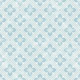 Geometrisch bloemenpatroon in retro stijl Stock Fotografie