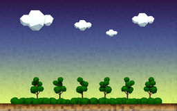 Geometrisch boomlandschap van een platteland Stock Foto's
