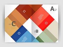 Geometrisch brochurea4 bedrijfsmalplaatje royalty-vrije stock foto