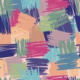 Geometrisch chaotisch lijnen naadloos patroon Abstracte bont achtergronden uit de vrije hand vector illustratie