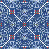 Geometrisch Chinees naadloos patroon Royalty-vrije Stock Foto's
