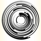 Geometrisch cirkelelement Abstracte zwart-wit cirkelvorm vector illustratie