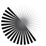 Geometrisch cirkelelement van radiale lijnen Het barsten lijnen het samenvoegen Royalty-vrije Stock Afbeelding