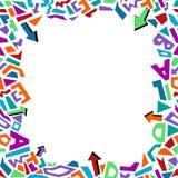 In geometrisch de stijlkader van elementenmemphis met pijlen Vector moderne abstracte ontwerpaffiche, dekking, kaartontwerp vector illustratie