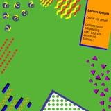 In geometrisch de stijlkader van elementenmemphis Vector moderne abstracte ontwerpaffiche, dekking, kaartontwerp Stock Foto's