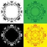Geometrisch decoratief koninklijk symbolisch overladen patroon stock fotografie