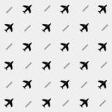 Geometrisch eenvoudig zwart-wit minimalistic vakantiepatroon Vliegtuigen Stock Fotografie