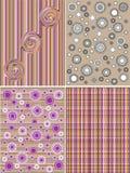 Geometrisch en bloempatroon Royalty-vrije Stock Afbeelding