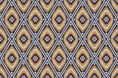 Geometrisch etnisch patroon royalty-vrije stock afbeeldingen