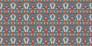 Geometrisch folkloreornament Naadloos patroon in uitstekende stijl De illustratie wordt gemaakt in modieuze kleuren van 2019 vector illustratie