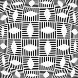 Geometrisch gecontroleerd patroon Abstracte geweven achtergrond Stock Foto's