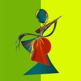 Geometrisch gestileerd vrouwelijk silhouet Stock Foto